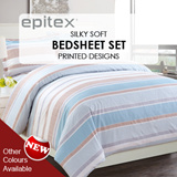 [Epitex]★Silkysoft Bedsheets★Printed Designs★Stripes Prints Bedsheets★High Quality Bedsheets★700 Thread Counts★3 Colours Available!★Best Price!★Quilt Cover Option Available!★