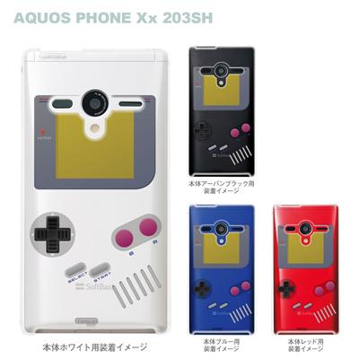 【AQUOS PHONEケース】【203SH】【Soft Bank】【カバー】【スマホケース】【クリアケース】【クリアーアーツ】【懐かしのゲーム】 08-203sh-ca0075の画像