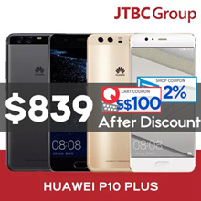 Huawei P10 Plus / 5.5in 1440 x 2560 Display / Octacore / Dual 20 MP + 12 MP Primary Cam