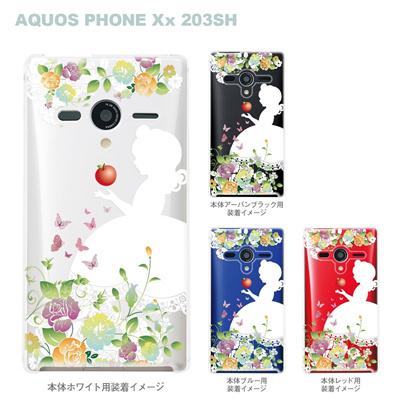 【AQUOS PHONEケース】【203SH】【Soft Bank】【カバー】【スマホケース】【クリアケース】【クリアーアーツ】【白雪姫】 08-203sh-ca0100bの画像