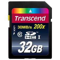 ◇ 【32GB】 Transcend/トランセンド SDHCカード CLASS10 永久保証 TS32GSDHC10 ◆メ