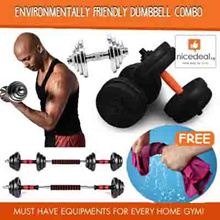[Free towel] Steel/Chrome / PVC Environmentally friendly dumbbell combo/no bad smell/ extender bar