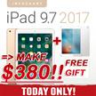 ★MAKE $380+FREE FILM!!★ New Apple iPad 9.7 Wi-Fi | 5th Generation 2017 Model | Retina Display 32G