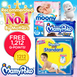 [Unicharm] 【FREE 1212 QPOINTS !】MAMYPOKO/MOONY/MOONYMAN Diapers: Quality leak-proof fresh-smelling and gentle on the skin/Easy to put on making it convenient and comfortable