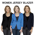 WOMEN JERSEY COTTON BRANDED AUTHENTIC BLAZER! AVAILABLE IN 3 COLOURS! LIMITED READY STOCK!
