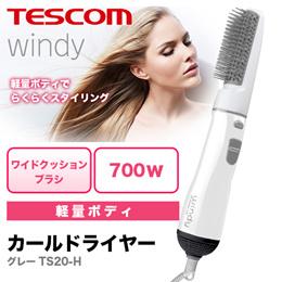 テスコム(TESCOM) windy カールドライヤー グレー TS20-H 軽量ボディでらくらくスタイリング。