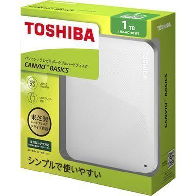 東芝コンシューママーケティング東芝CANVIOBASICSポータブルハードディスク2.5インチUSB外付けHDD(1TB)HD-AC10TWホワイトE439166H