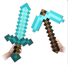 Frozen Pokemon Game Toys Antion figure Mosaic Minecraft sword  pickaxeMinecraft Diamond Sword  Picka