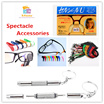 Anti-Slip Silicon Glasses Ear Hook/Anti-Slip Silicon Nose Support Pad/Neck Strap Eyeglass Holder/Spectacle cleaner/Microfiber Cleaner/Glasses cleaner/Earhook