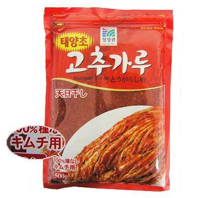 【韓国食品・韓国食材・韓国調味料】■清浄園唐辛子粉(キムチ用(中辛-粗い)-500g)■の画像