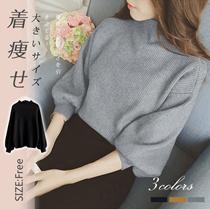 女性セーター ニット カジュアル ハイネック ゆったり 暖かくて女性らしい レディースファッション スタイルアップ 柔らかい 全3色