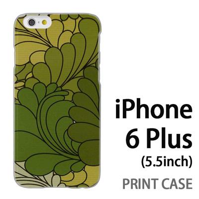 iPhone6 Plus (5.5インチ) 用『0624 緑の葉』特殊印刷ケース【 iphone6 plus iphone アイフォン アイフォン6 プラス au docomo softbank Apple ケース プリント カバー スマホケース スマホカバー 】の画像