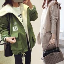 2016韓国ファッション 秋冬新入集合 コート フードニットジャケット ダウンジャケット 3COLOR ★冬コート レディーるアウター