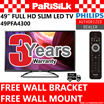 *FREE GIFT WORTH $39* Philips 49in 4300 Series Full HD Slim LED TV 49PFA4300 - 3 YEARS SINGAPORE WARRANTY