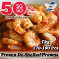 [SG50 50% SALE] Mini frozen de-shelled prawns / 1kg 170-190Pcs !! / Retail Price : $18.90 *Limited OFFER