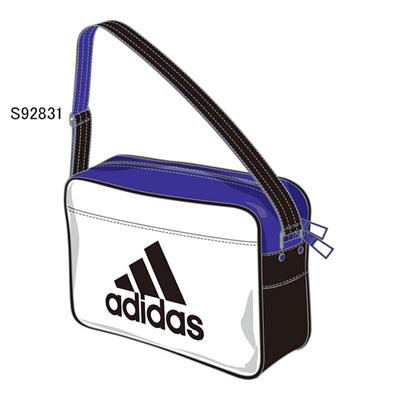 アディダス (adidas) エナメルショルダー XS(ホワイト×ブラック×ナイトフラッシュS15) Z7675-S92831 [分類:エナメルバッグ (小型)]の画像
