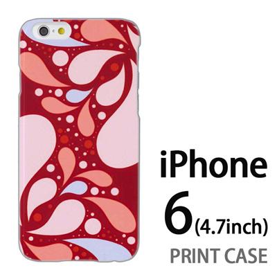 iPhone6 (4.7インチ) 用『1205 水玉柄 ピンク』特殊印刷ケース【 iphone6 iphone アイフォン アイフォン6 au docomo softbank Apple ケース プリント カバー スマホケース スマホカバー 】の画像