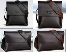 ☆新品 メンズ POLO VIDENG  高級PUレザー ショルダーバッグ ブラック ブラウン 黒色 茶色 ビジネス 大人気 ブランド 格安 多機能 防水 耐久 上質 質感☆