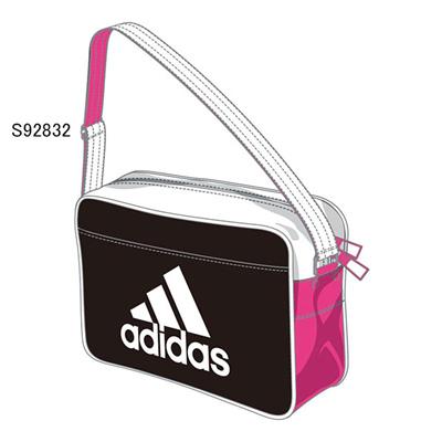 アディダス (adidas) エナメルショルダー XS(ブラック×ピンク×ホワイト) Z7675-S92832 [分類:エナメルバッグ (小型)]の画像