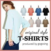 【GOGOSING】無地半袖Tシャツ ☆レデイース Tシャツ 無地 半袖 可愛い トレンド 夏物 P000BUXR/P000BVWS tシャツ