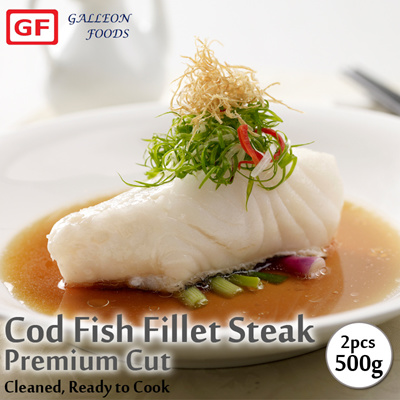 Buy galleon foods cod fish fillet steaks 2pcs deals for for Cod fish protein