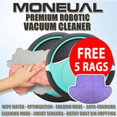 [ CNY GIFT!! ] MONEUAL PREMIUM Robotic Robot Smart vacuum cleaner / Mopping with Wet Rag/MR6803 /MR6800 /MR6700 / MR6703 - CNY GIFT!!