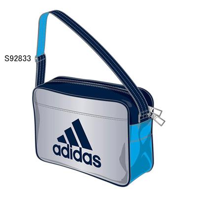 アディダス (adidas) エナメルショルダー XS(シルバーメット×ソーラーブルーS14×カレッジネイビー) Z7675-S92833 [分類:エナメルバッグ (小型)]の画像