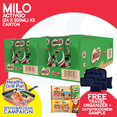 [NESTLE]?FREE GRILL PAN WITH $68 SPENT!MILO CARTON SALES!?FREE NESTLE SAMPLE PACK+TRAVEL ORGANIZER Deals for only S$39.9 instead of S$0