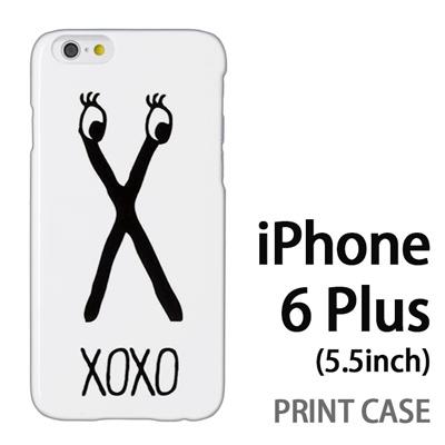 iPhone6 Plus (5.5インチ) 用『0626 「X」』特殊印刷ケース【 iphone6 plus iphone アイフォン アイフォン6 プラス au docomo softbank Apple ケース プリント カバー スマホケース スマホカバー 】の画像