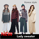 SS170Ladies fashion.South Korea fashion ladies knitted dress / Dress /long coat/cannabis woven knit crew neck / high quality woolen sweater/dresses sweaters