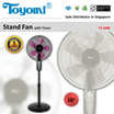 TOYOMI 16inch Stand Fan with Timer [Model: FS 1688] - Official TOYOMI Warranty Set. 1 Year Warranty. Sole Distributor In Singapore. BEST PRICE.