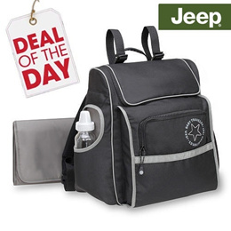 ** Authentic ** Baby Boom Jeep Trend Sport Backpack Diaper Bag from Betesh- Black/Grey | Tote Bag