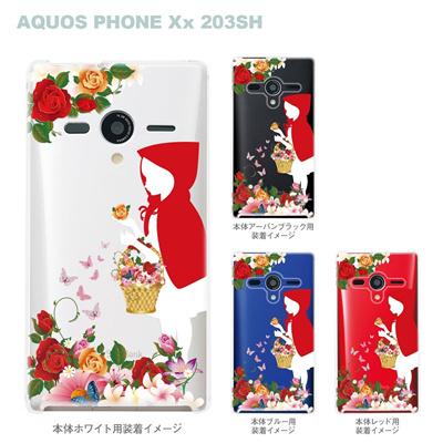 【AQUOS PHONEケース】【203SH】【Soft Bank】【カバー】【スマホケース】【クリアケース】【クリアーアーツ】【赤ずきん】 08-203sh-ca0100fwの画像