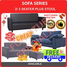 [Furniture Specialist] Sofa Series 3 Seater Option  + Stool / 3 Seater / 2 Seater Sofa