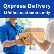 Qxpress Delivery Service for purchase from Lifeline Corporation only (Door to Door Service)