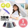 【韓国ファッション】【送料無料】【9色ポイント3段傘】急な雨でも使いやすい!軽さを重視し持ちやすい!おススメアイテムです。