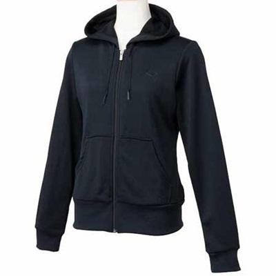 プーマ(PUMA) ウィメンズ フーデッドスウェットジャケット 822732 01 ブラック【レディーストレーニングウェア パーカー トレーナー】の画像