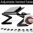 Adjustable Vented Laptop Table Laptop Computer Desk Portable Bed Tray Book Stand /As seen on TV/potable/tray/table with laptop/multi-purpose/foldable/ fold up/Sofa table/couch table/bed table