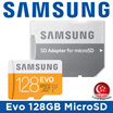 Samsung Evo 128GB MicroSDXC with Adapter / Class 10 / Up to 48Mb/s / Memory Card / Micro SD / Local Set with Local Warranty