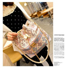 Korean Fashion Leather Buckle Bag/Pearl Bucket Bag/Chessi Bucket Bag/Tas Selempang/Good Quality/Cheapest Price