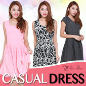 ★BEST SELLER★Work/Casual/Floral Dress★Fits S-L Size★Printed Dress★ Ladies Trendy Fashionable Office Casual Dress. Best Price! Fast Delivery!