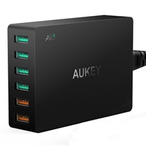 ★NEW HOT★AUKEY  Quick Charge Multi Port USB Charger with Dual Quick Charge 2.0/3.0 Desktop Mobile Charger Wall Charging EU US Plug for iPhone Samsung S6 SONY HTC etc