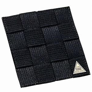 シンビハンドメイドコースター#85010×10cmブラック