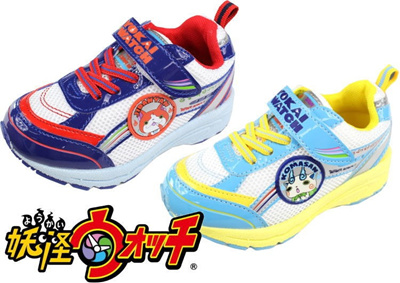 (B倉庫)妖怪ウオッチ YK-1302 子供靴 スニーカー 男の子 キャラクターシューズ キッズ 妖怪ウォッチ シューズ ジバニャン コマさんの画像