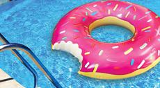 ★2016年新作★ 今年のトレンドアイテム!!【 フラミンゴ浮き輪 】(ドーナツ ピンク 大人 子供 男性 海 海水浴 プール 川遊び 浮き輪 フロート)