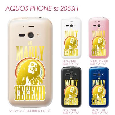 【AQUOS PHONE ss 205SH】【205sh】【Soft Bank】【カバー】【ケース】【スマホケース】【クリアケース】【ミュージック】【BOB MARLY】 08-205sh-j0012の画像