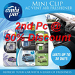 Ambi Pur Car Mini Clip AC Vent Air Freshener (2ml) Lasts up to 30 days