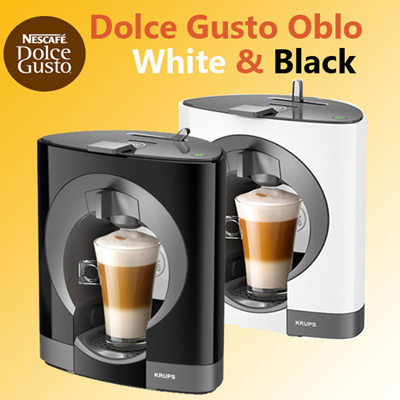 qoo10 nescafe dolce gusto oblo coffee capsule machine by krups black whit home electronics. Black Bedroom Furniture Sets. Home Design Ideas