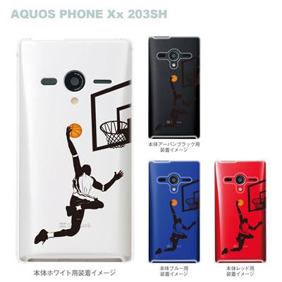 【AQUOS PHONEケース】【203SH】【Soft Bank】【カバー】【スマホケース】【クリアケース】【クリアーアーツ】【バスケットボール・ダンク】 08-203sh-ca0112の画像