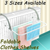 Hanging Foldable Clothes Shelves Drying Rack towel rack folding clothes hanger bathroom shelves Home
